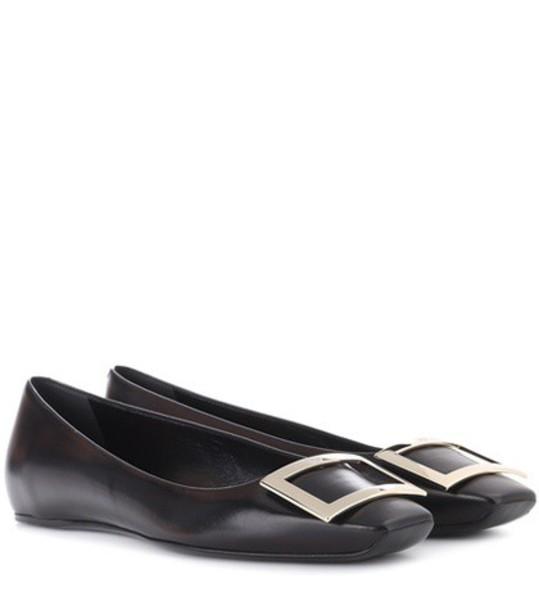 Roger Vivier leather black shoes