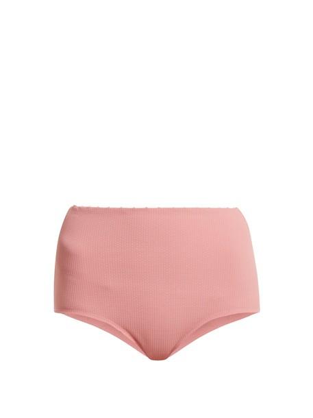 marysia swim bikini high pink swimwear