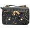 Moschino - studded shoulder bag - women - leather - one size, black, leather