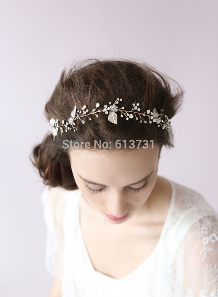 Aliexpress.com : buy luxurious twigs&honey european style bridal hair jewelry accessories silver leaf and crystal headband from reliable headband daisy suppliers on suzhou babyonline dress store