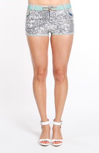 shorts sequins shiny glimmer fashion sequined