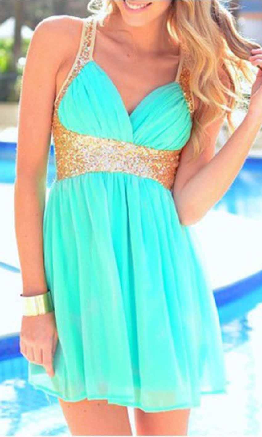 Black and Gold Sequin Short Prom Dresses UK KSP380 [KSP380] - £87.00 ...