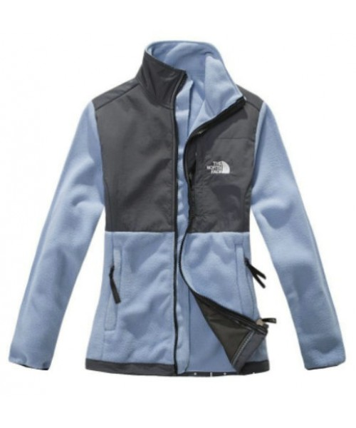 North Face Canada Womens Light Blue Denali Fleece Jacket Bj130301