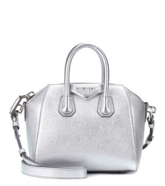 mini bag shoulder bag leather silver