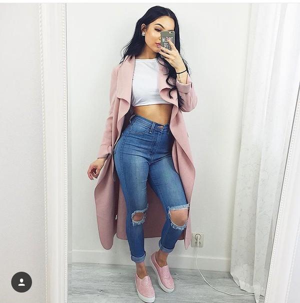 coat pink pink coat blush pink where did u get that long cardigan long coat trench coat women long coat famous coat girls long coat