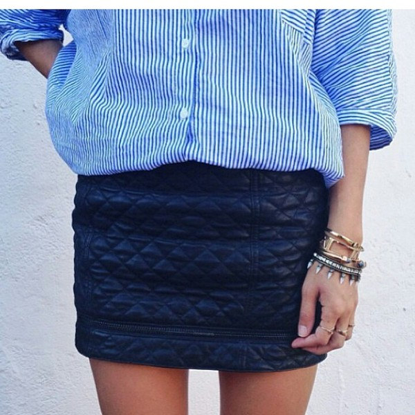 skirt striped shirt stripes