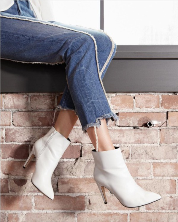 shoes white booties express white boots boots booties leather fall accessories streetstyle
