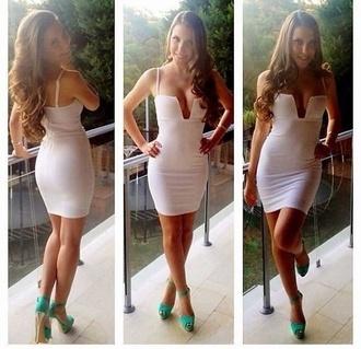 dress white dress clubwear club dresses mini dress white
