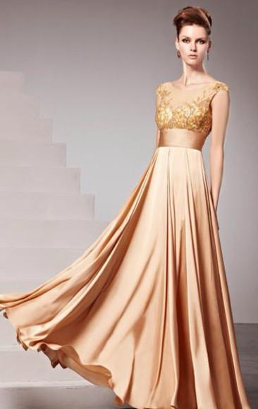 prom dress gold gold sequins formal dress long prom dresses