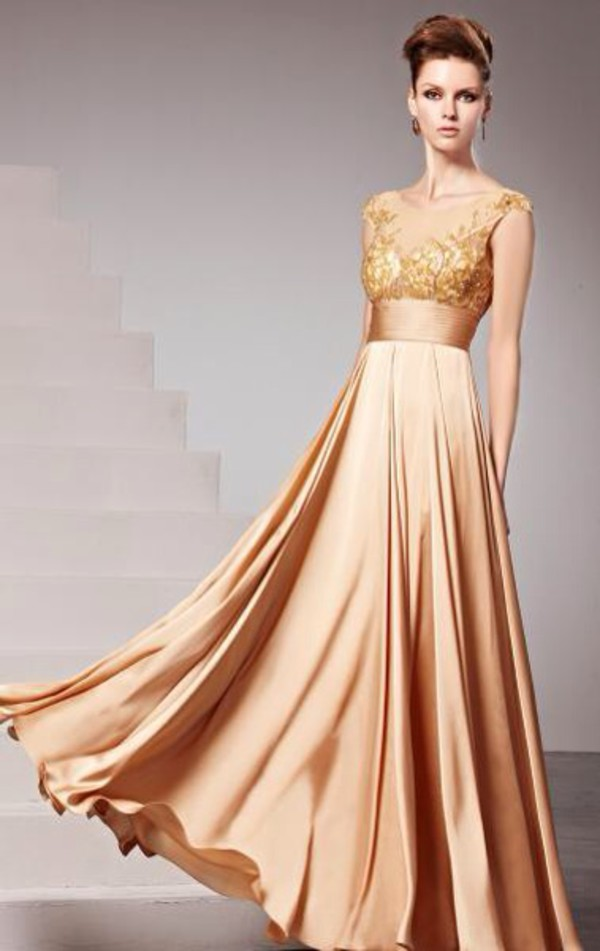 gold gold sequins formal dress prom dress long prom dress