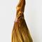 Black coral abito in velluto senape - lemlo online shop