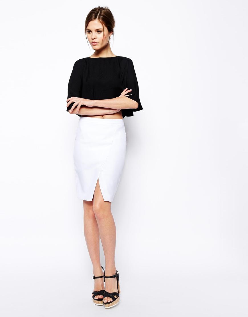 ASOS Pencil Skirt with Wrap at asos.com
