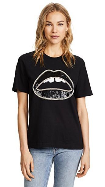 Markus Lupfer embellished black top