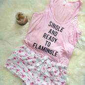 pajamas,flamingo