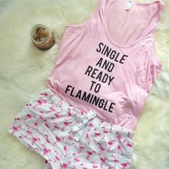 pajamas flamingo