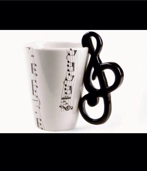 bag mug music b&w