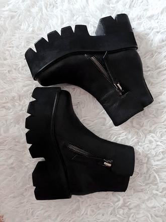 shoes boots platform shoes jeffrey campbell tumblr shoes black high platform goth shoes zipper shoes campbell demonia ebay