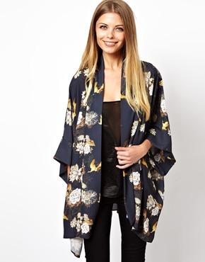 Love | Love Kimono In Floral Print at ASOS