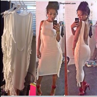 backless dress white dress sexy dress dress