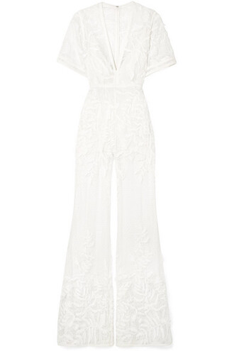 jumpsuit embroidered white