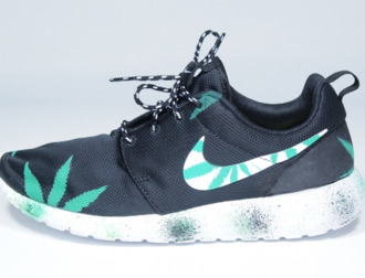 shoes high top sneakers sneakers nike roshe run weed woman shoes mens shoes custom roshe runs mary jane