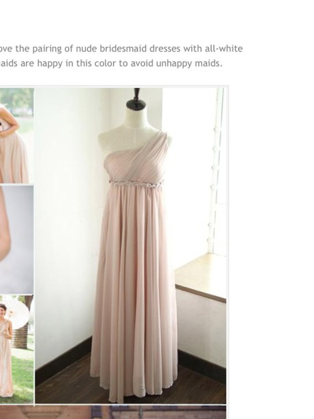dress chiffon dress bridesmaid