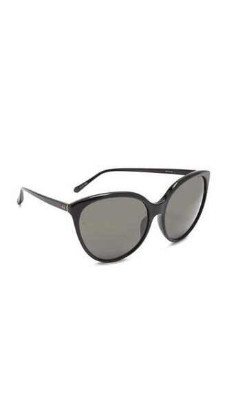 oversized sunglasses black grey