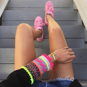 shoes pink pale pale pink baby pink adidas runcolor runcolors run color fit superstar fashion grunge cute summer outfits summer style stylish