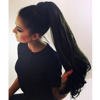 hair accessory ponytail brunette