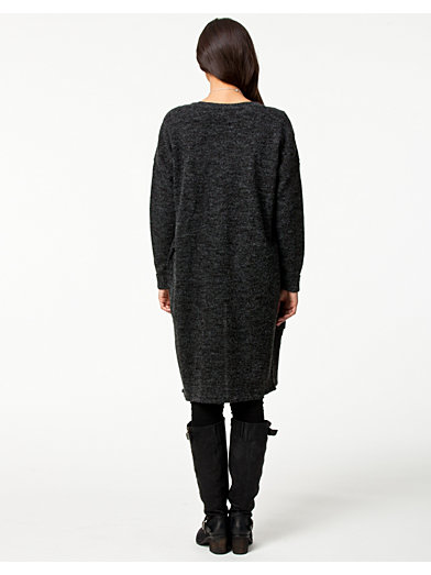 Ultra Long Cardigan - Only - Dark Grey - Trøjer - Tøj - Kvinde ...