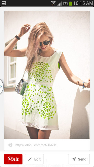 dress white summer dress cut out dress laser cut green