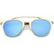 Ryan metallic mirrored aviator sunglasses at flyjane