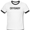 Cry baby ringer t-shirt - basic tees shop