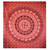 Mandala Red, White Elephants Printed Wall Hanging Tapestry