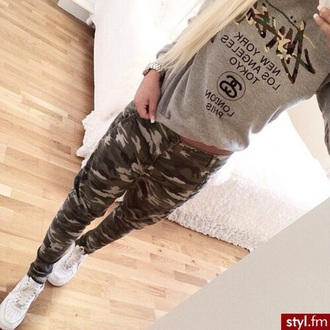 pants military pants nike air military style green army pants sweater grey sweater grey camouflage dress jeans green pants nike air force 1 blondie shirt stussy