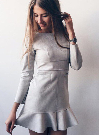 dress black dress boho dress dress corilynn prom dress cute dress summer dress outfit outfit idea fall outfits tumblr outfit suede suede dress casual suede dress long sleeve suede dress streetwear streetstyle street goth lookbook party dress party grey