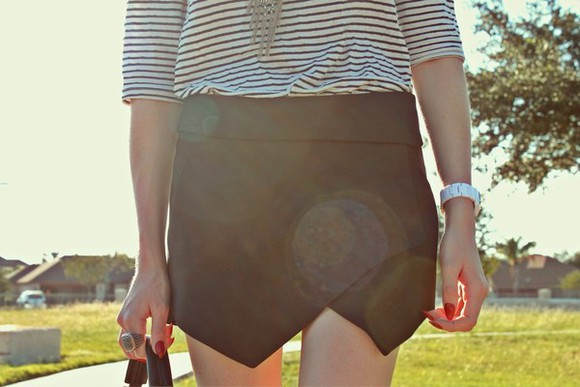 skirt clothes shorts skort asymmetrical wrap