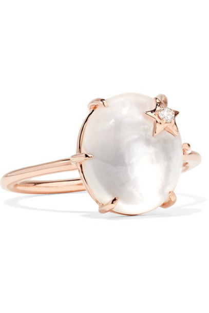 ANDREA FOHRMAN stone ring rose gold rose ring gold jewels