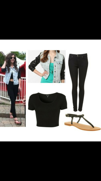 one direction jacket eleanor calder jeans denim cream