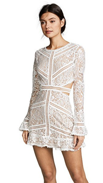For Love & Lemons Emerie Cutout Dress in white