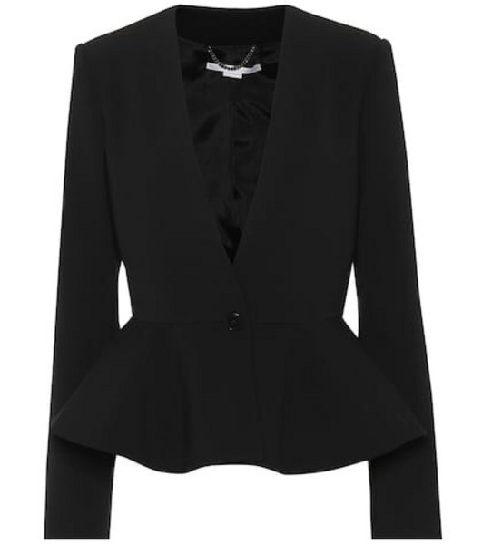 Stella McCartney Stretch wool jacket in black