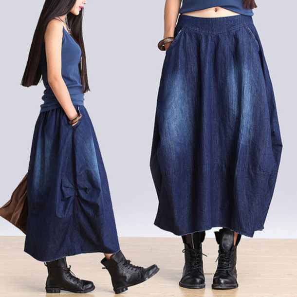skirt denim denim shirt blue skirt
