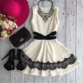 dress rose wholesale black and white mini dress cute dress trendy style chic fashion