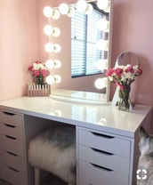 home accessory,makeup table,white,desk,mirror,hollywood,make-up