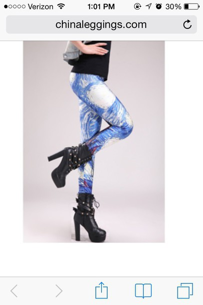 leggings leggings perfect starry night to art