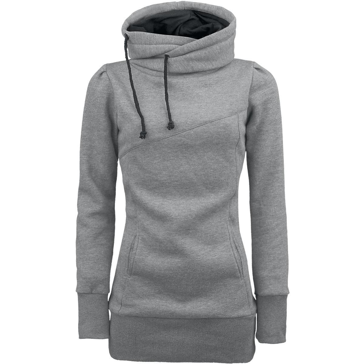 smart hoodie girl kapuzenpulli girl kapuzenpulli frauen grau emp. Black Bedroom Furniture Sets. Home Design Ideas