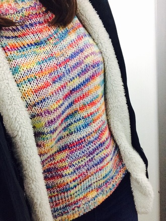 sweater color colorful sweater aliexpress wool