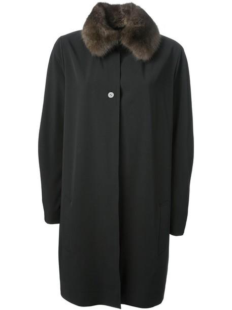 Liska overcoat women black coat