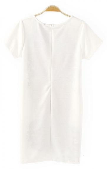 Vintage Pattern Printing Short Sleeves Dress