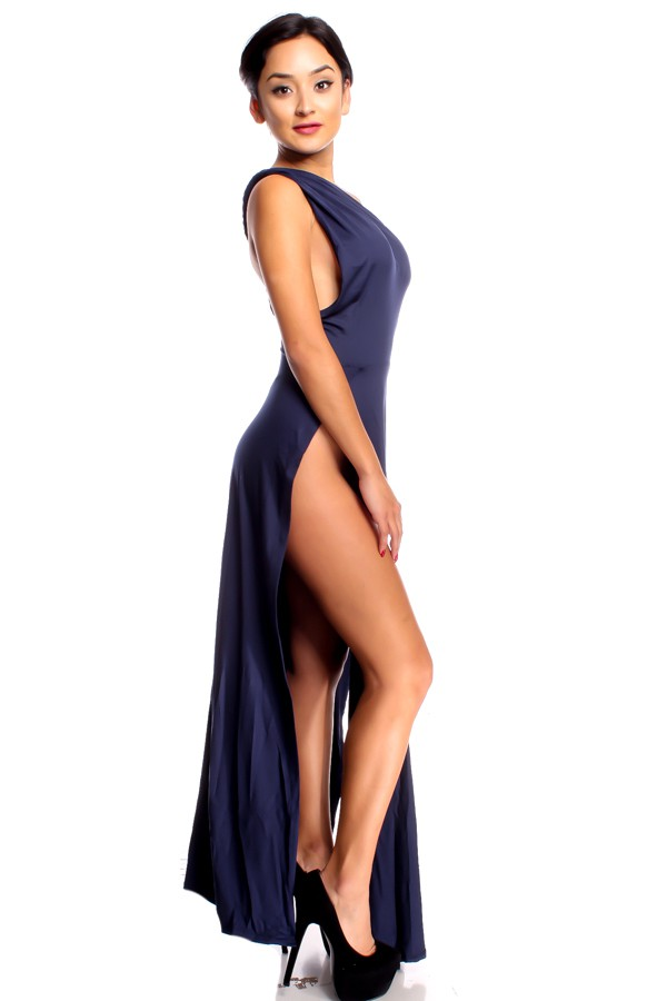 Sexy high slit dress